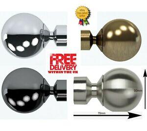 Speedy Pristine Poles Apart 28mm Vista End Ball Small Finials, 2 Finials(1 Pair)
