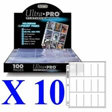 ULTRA PRO 15 POCKET PLATINUM SERIES TOBACCO CIGARETTE CARDS SLEEVES X 10 PAGES