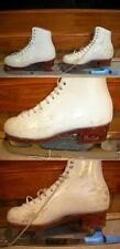 "Ice Skates Harlick High Test 4 8.75"" Freestyle stiff boots Select Classic blades"