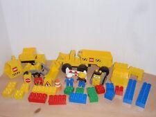 LEGO Duplo Construction Site Big Wheels Road Worker Trucks Signs