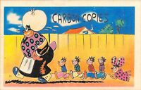 A76/ Black Americana Postcard c1930s Carbon Copies Mom Kids 22