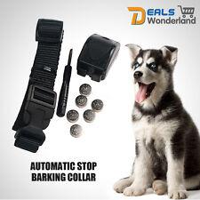 Automatic Safe VIBRATION Training Dog Anti Bark Collar NO SHOCK Stop Barking Pup