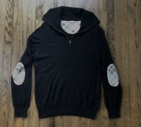 Burberry Brit Men's Elbow Nova Check Half Zip Pullover Sweater Size 2XL