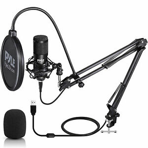Pyle PDMIKT140 Pro Audio Recording Computer Desk Attached USB Microphone Kit