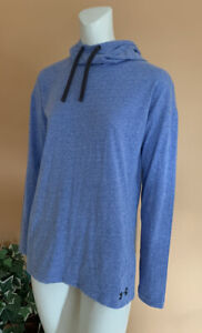 Under Armour Running Athletic Hooded Top Sweatshirt Women's Size M Blue