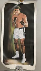 "Angelo Marino 1991 Muhammad Ali Championship Boxing Signed Poster 33 X 17 """