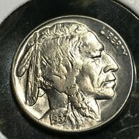 1937  BUFFALO NICKEL BRILLIANT UNCIRCULATED COIN