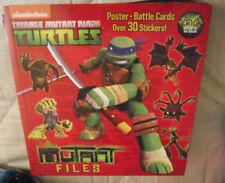 BRAND NEW Teenage Mutant Ninja Turtles The Mutant Files + Poster + Battle Cards