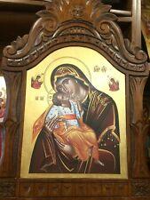 Theotokos The Sweet kissing Handmade Greek orthodox Russian byzantine icon