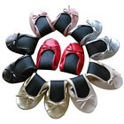 ROLL UP FOLD PUMPS FLATS AFTER PARTY SHOES POCKET FREE BAG FOLDABLE