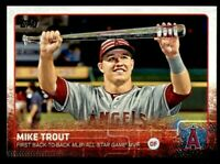 2015 Topps Update #227 Mike Trout Angels MINT FROM PACK
