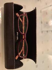 Preowned - Prada VPR13G 7O1-1O1 Brown RX Eyeglasses RX Frames 52mm Italy 52-16