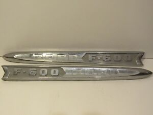 Ford F-600 Truck Metal Script Emblem Nameplate Ornament Trim Badge Collectible!