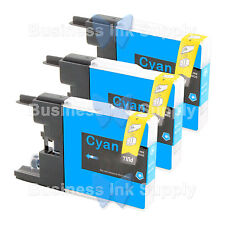 3 CYAN LC71 LC75 Compatible Ink Cartirdge for BROTHER Printer MFC-J435W LC75C