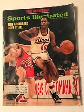 Sports Illustrated Magazine vintage Oct. 1973 Tiny Archibald pro basketball book