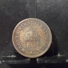 CIRCULATED 1895 2 FILLER HUNGARY COIN (52518)1