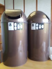 Umbra Loft lot of 2 pair bronze 49L (13 gal) garbage can w/ flip  hands free top