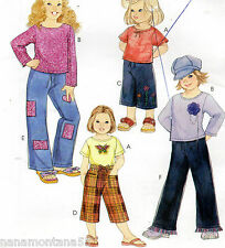 Easy McCalls 4110 Girls Knit Tops Pants Capris Long Shorts Pattern 3-6 UCFF