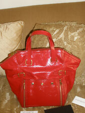 Yves Saint Laurent YSL Downtown Large Tote Red