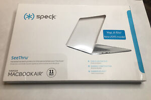 Speck Macbook Air 11 inch Case SeeThru Glossy Finish (2015) and Earlier NWT NEW
