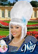 LADIES BIG WHITE POMPADOUR WIG MARIE ANTOINETTE GEORGIAN FANCY DRESS NEW