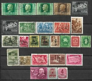 1936-1940 HUNGARY Set of 26 USED STAMPS