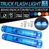 2x 24V 8 LED Trailer Clearance Lights Side Marker Truck Indicator Flashing Lamps