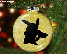 Pokemon Pikachu Christmas Custom Handmade Ornament//Magnet//Dollhouse Mini Pokémon