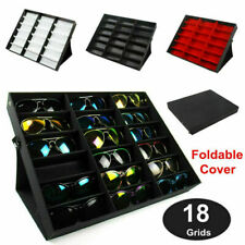 92f3d97fe6ac6 Eyeglass Sunglasses Glasses Storage Display Grid Stand Case Box Holder 18  Slots