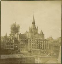 Suisse, Lausanne, La Cathédrale pendant une rénovation  Vintage citrate print.