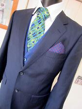 Aquascutum Navy Pin stripe Suit UK 38 W 34 L 28 EU 48 Extra Short