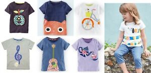 Mini Boden girls' applique t-shirts new age 1 - 12 years summer top shirt cotton