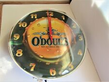 O'DOUL'S LIGHT UP CLOCK BEER SIGN  MINT CONDITION