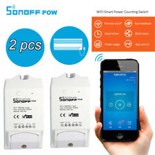 2 Pcs Sonoff Pow Wireless Remote Control WiFi Smart Power Switch for IOS Android