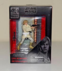 Luke Skywalker Star Wars Black Series Titanium 40th Anniversary Die Cast Figure
