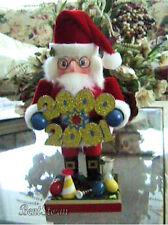 Rare Y2K 2000-2001 Millennium Santa Claus Nutcracker Happy New Year Christmas