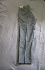 Mens 60s-70s Classic Vintage Farah Blue Glen Plaid 28x27 Thins Slim Dress Pants