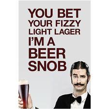 Beer Snob Wall Poster - Beer Lovers Home Bar Restaurant Novelty Decoration Gift