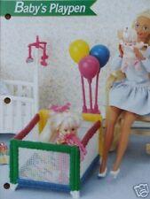 Plastic Canvas Fashion Doll Pattern BABY'S PLAYPEN