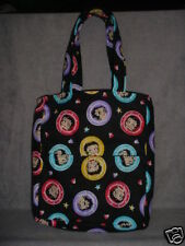 Betty Boop with Circles!!! Handmade Boutique Purse!