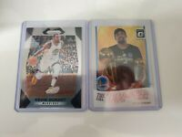 """2017-18 Panini Prizm base #44 + Donruss Optic """"The Champ is Here"""" Kevin Durant"""