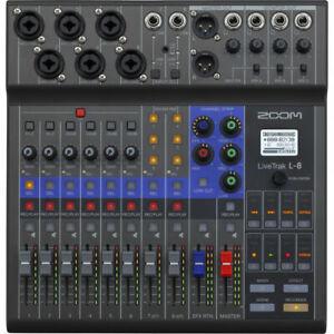 Zoom L-8 LIVETRAK 8 CHANNEL DIGITAL MIXER POD CAST RECORDER