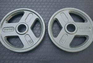 """25 Lb Olympic 2"""" Weight Plates Set of 2 50lbs Total Pounds New Excellent Quality"""