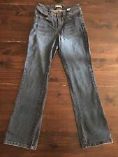 Women's Lee Slender Secret Denim Blue Jeans Lower On The Waist Boot Sz 6M 24x30