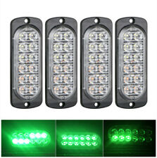 4x Green 12LED Car Truck Emergency Warning Hazard Flash Strobe Light Bar 12V 24V