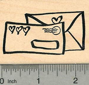 Love Letters Rubber Stamp, Valentines Series J37812 WM