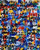 ALEXANDRE PONS/Abstrait contemporain pièce unique format 73x60 cm
