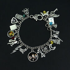 Harry HP Sorting Hat Hedwig Wand Scar Snake Letter Of Admission Charm Bracelet
