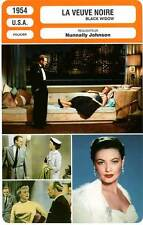 FICHE CINEMA : LA VEUVE NOIRE - Rogers,Heflin,Tierney,Johnson 1954 Black Widow