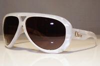 Authentic DIOR Mens Womens Vintage Sunglasses White Pilot AVIADOR 1 AUABN 25725